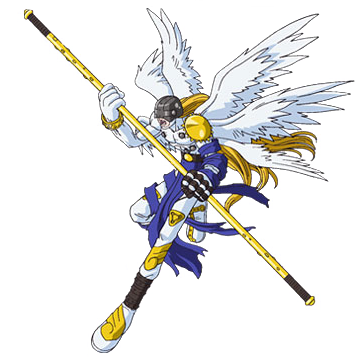 Angemon, probably the clearest Christian influence that Digimon has to offer.