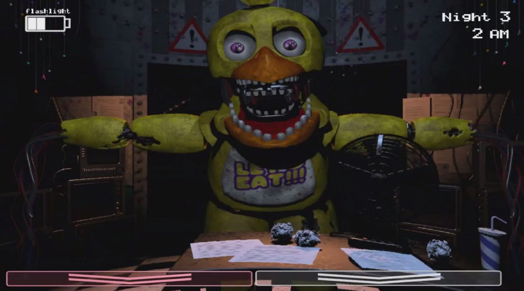 Chica in office