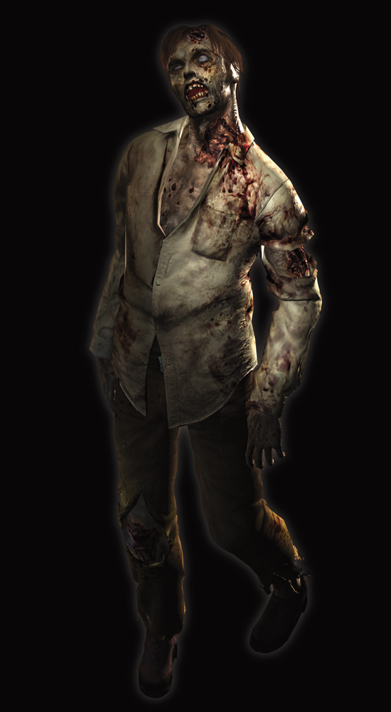 In case you've been out of touch with media for the last few decades, this is a zombie. Ain't it purdy?