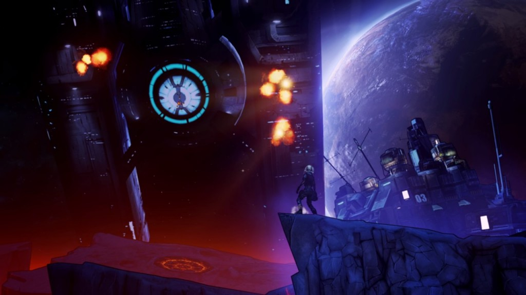 Pre Sequel features some breathtaking sci-fi landscapes and top-notch cinematography.