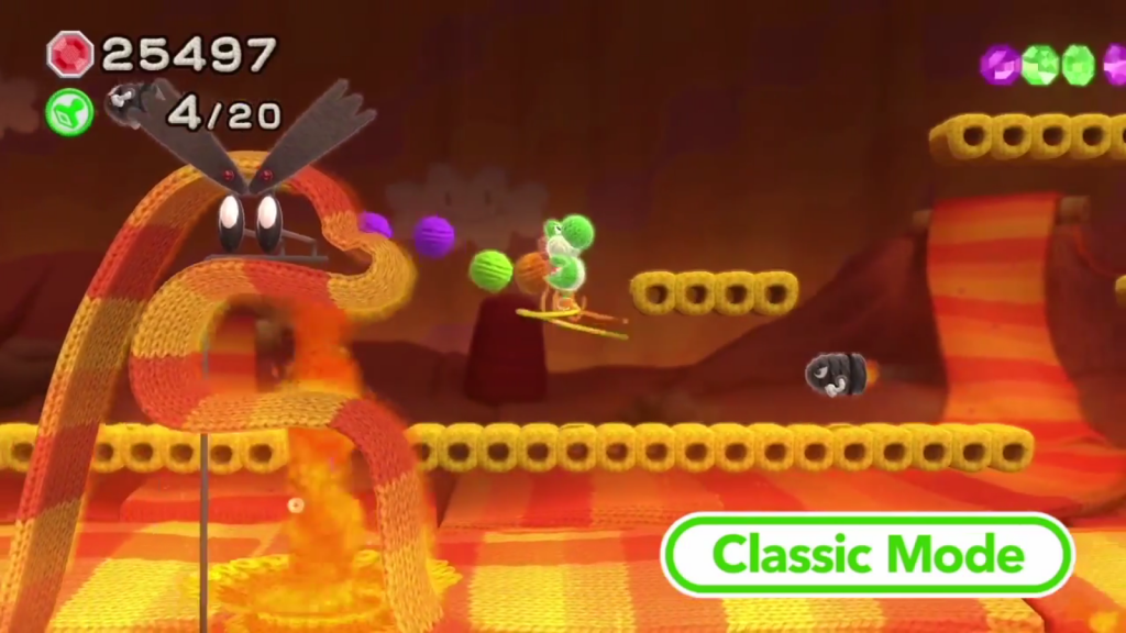 Yoshi's Woolly World will have classic and mellow mode.