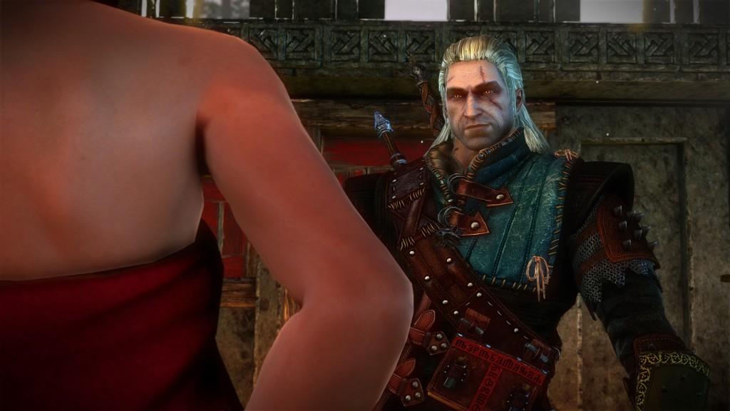 Geralt smiles