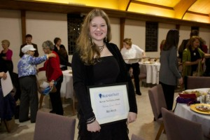 Victoria wins the Beyond the Steeple Award given by the Believer's Trust organization