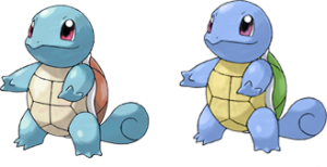 Shiny pokemon are exceedingly rare. This is an example of a variation in a species, not a change in species.