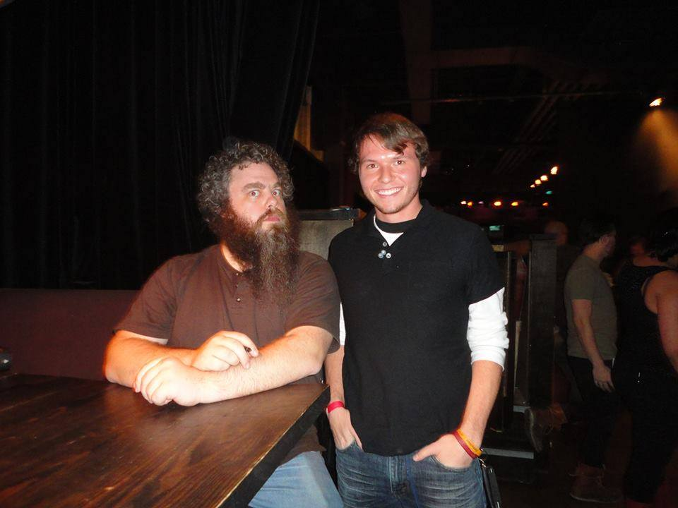Cooper meeting one of his favorite authors, Patrick Rothfuss, the writer of The Kingkiller Chronicle