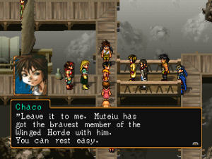 Chaco truly turns himself around through the course of the game, going from a petty thief to a bold soldier.