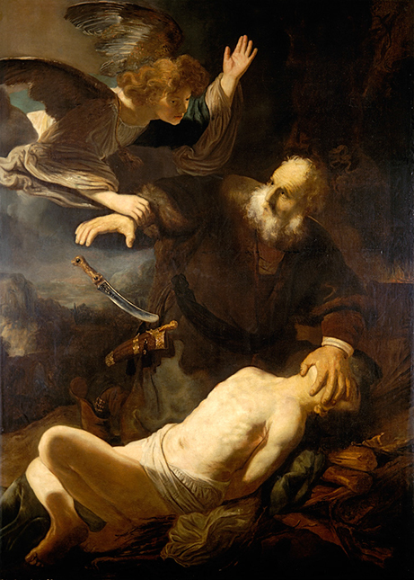 Rembrandt is one of my favorite artists. Here is his depitcion, the Sacrifice of Isaac.