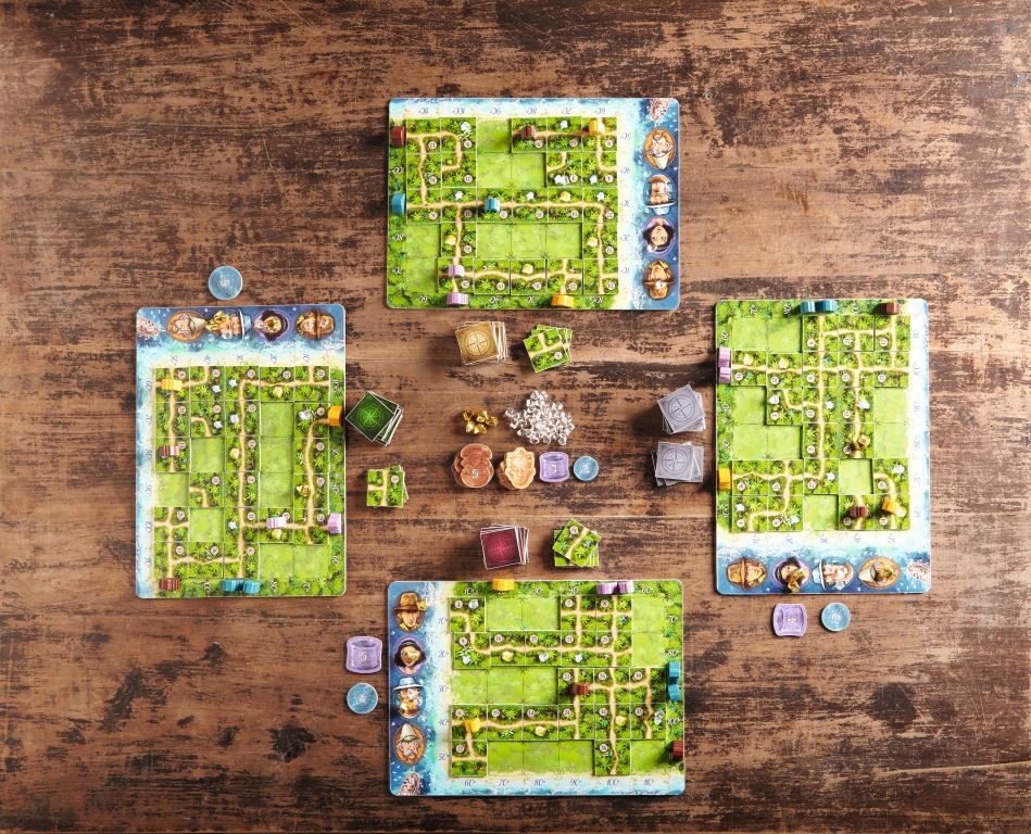Karuba mid-game, as players begin to develop different routes.