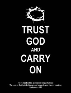 """Perhaps God would say, """"Carry on, My wayward son."""" ;)"""