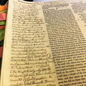 My personal journaling bible.
