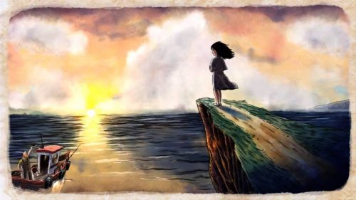 Our journey starts when Merryn receives visions of her father lost at sea
