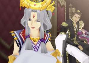 (Left to right) Queen Arshtat, Commander Ferid, and Lady Sialeeds.