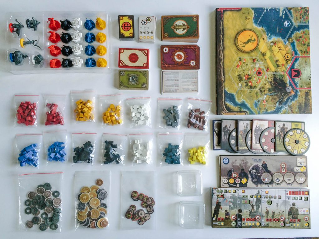 All of Scythe's components. Yikes, lots of stuff!