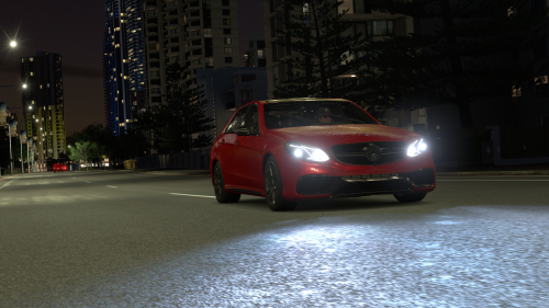 The lighting effect even works great at night, because all you have is your headlights