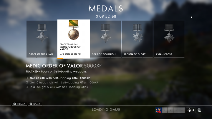 Medals are personal side goals that grant large amounts of experience when completed