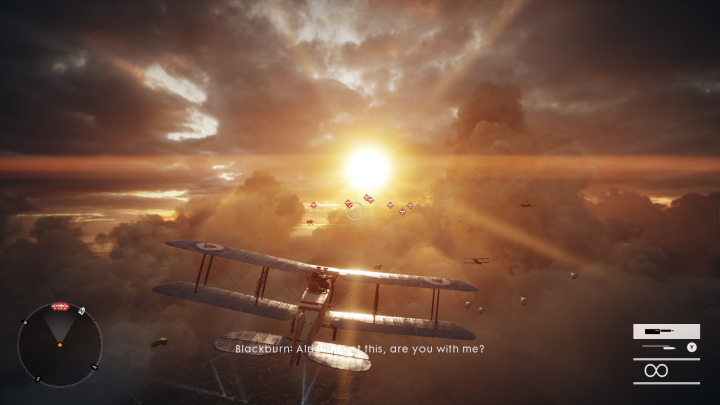 Flying the biplanes was the most fun I had out of all six war stories.