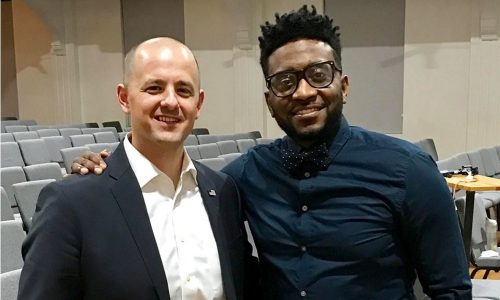 Sho Baraka with Presidential independent Candidate Evan McMullin.