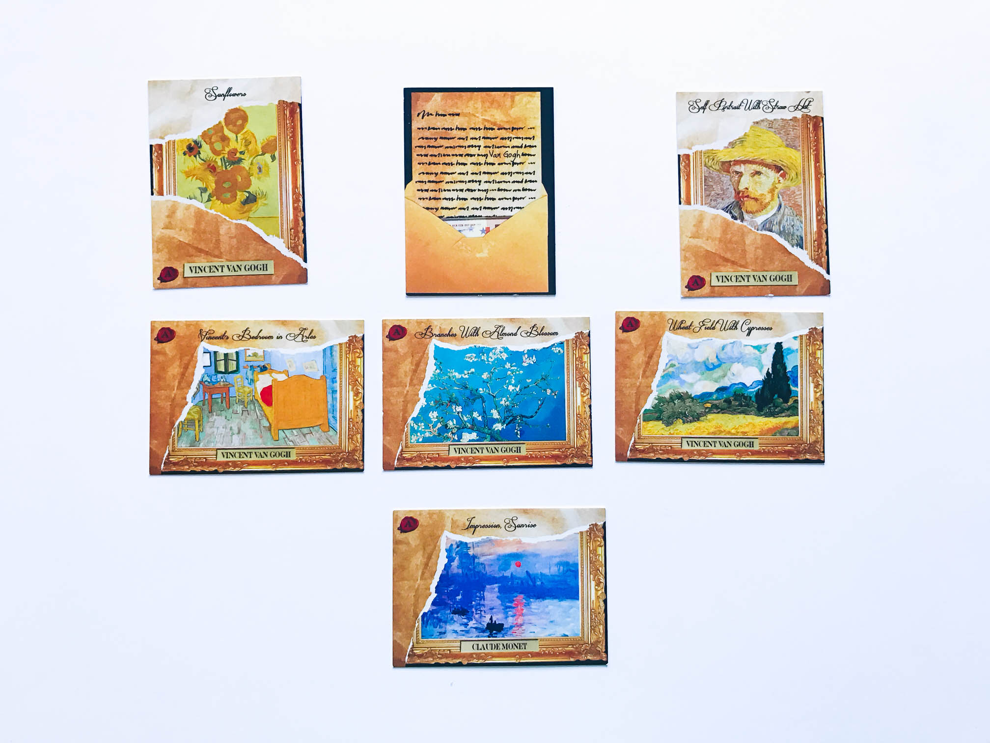 An example of all available authentic cards from Van Gogh.