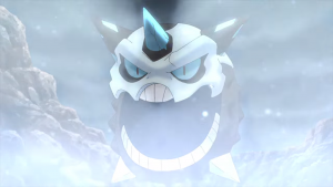 Mega Glalie doesn't do anything to reduce the nightmare fuel...