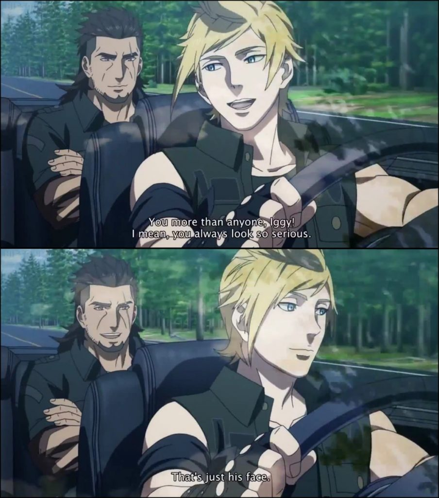 At that moment, Ignis became my spirit animal.