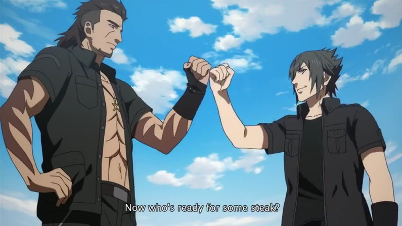 Pictured: the manliest screencap in the series.