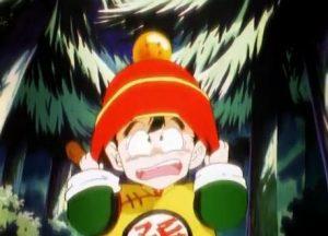 dragon-ball-z-dead-zone-gohan-meets-garlic-jr-in-forest