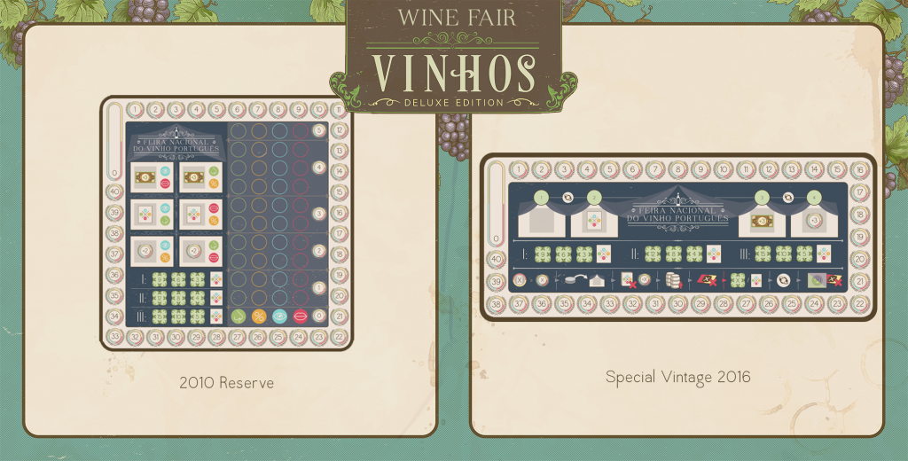 Differences between both rules' wine fairs. (Photo Courtesy BoardGameGeek)
