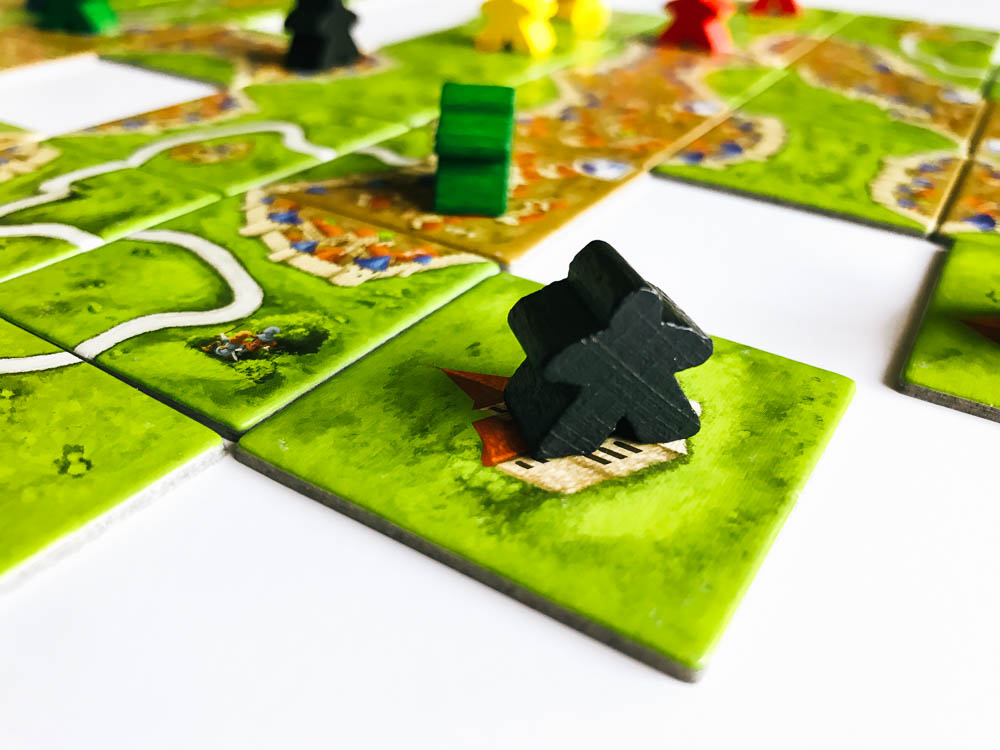 This meeple controls a monastery.