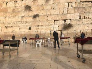 Jews praying at the Western Wall.