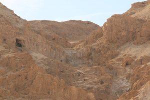 Qumran. Dead Sea scroll caves.