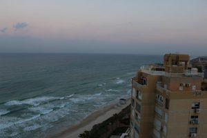 My balcony view of the Mediterranean Sea at The Seasons Hotel in Natanya.