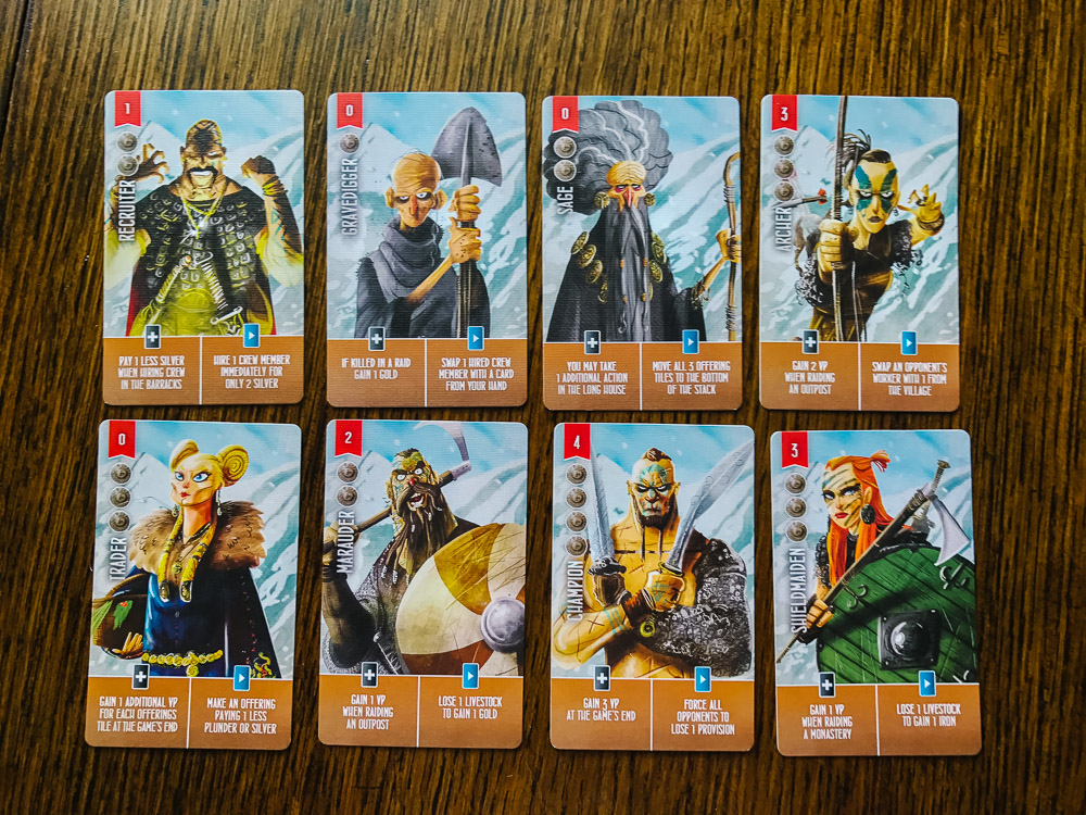 Raiders of the North Sea crew cards