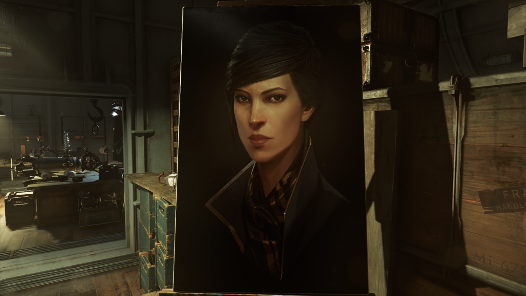 One of many beautiful paintings present throughout the game.