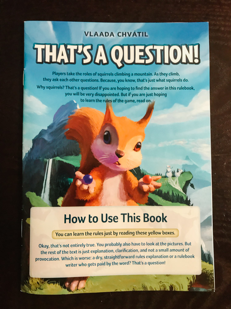 That's a Question rulebook front page