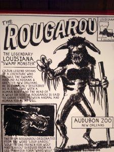 Audobon Zoo's Rougarou sign