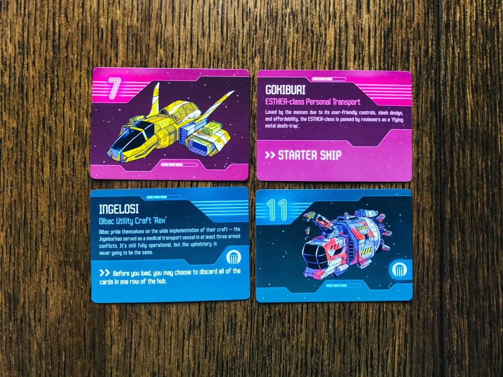Star Cartel ship cards