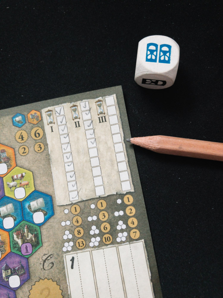 This time tracker can result in short or long games. It's all up to the dice.