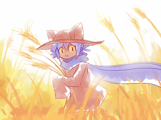 Niko in wheat field