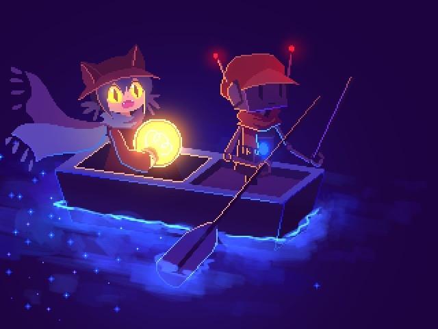 Niko in boat