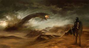 Giant sand worm breeching