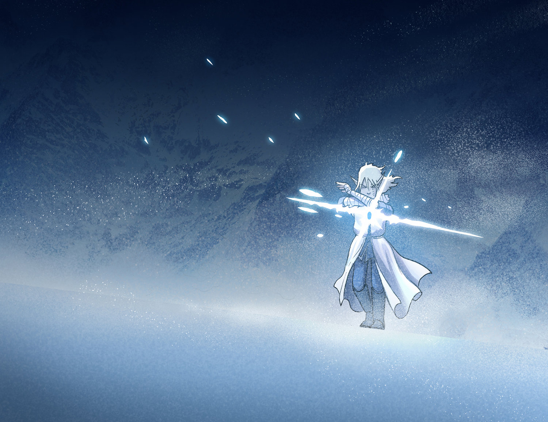 Trellis wanders through the snow