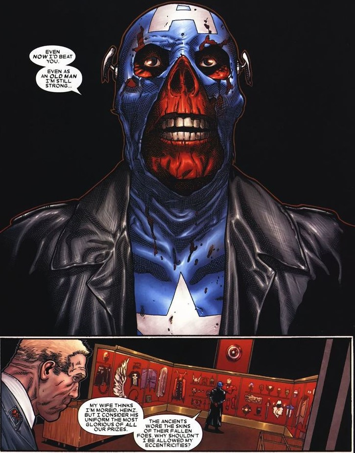 Red Skull in Captain America costume