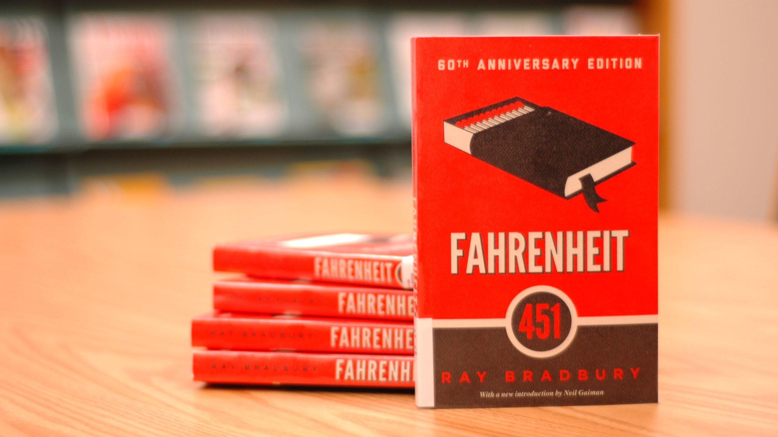 Stack of Fahrenheit 451 books