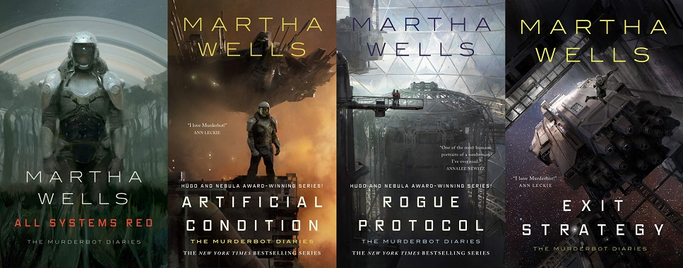 Books in the Murderbot Diaries series
