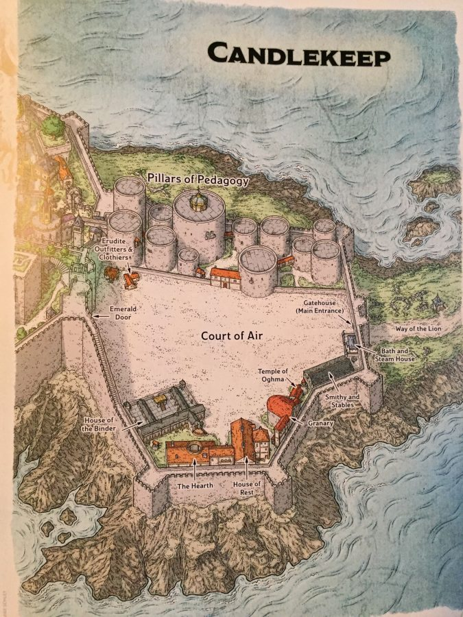 A map of the Court of Air in Candlekeep.