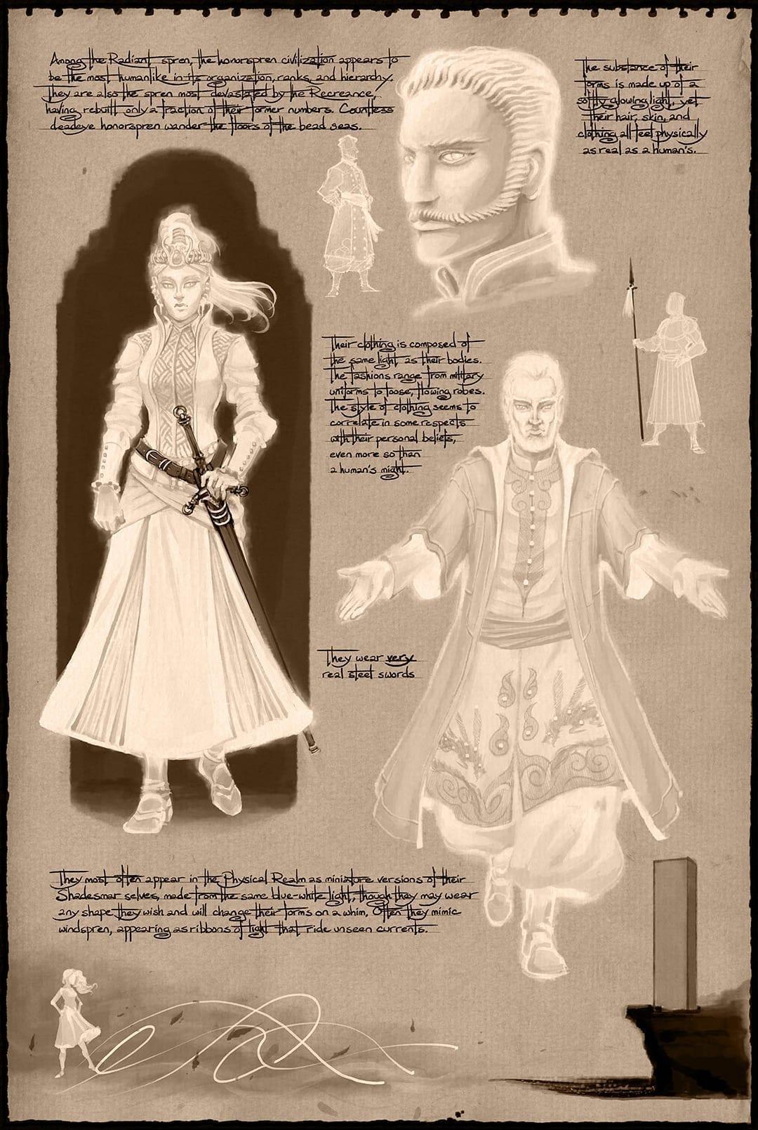 Concept art of the Honor Spren in Shadesmar.