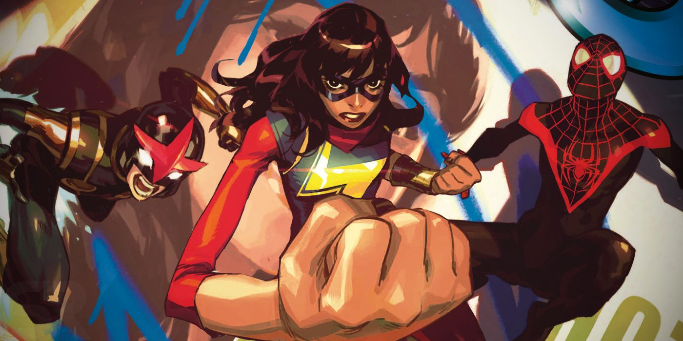 Nova, Ms. Marvel, and Spider-Man