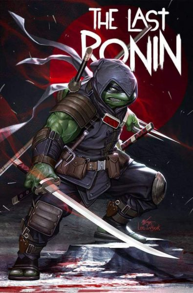 Hooded turtle with swords