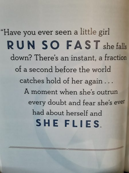 Quote about a girl running so fast she can fly.