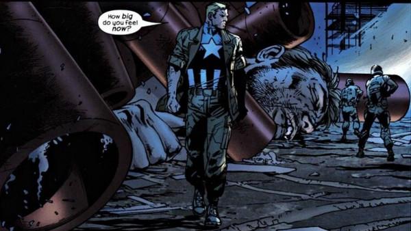 Cap vs. Giant Man, Cap wins